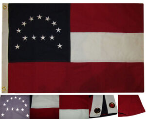 2x3 Embroidered Robert E. Lee HQ Premium 100% Cotton Flag 2'x3' Banner Grommets