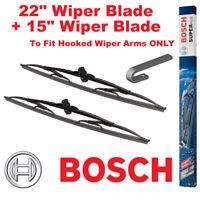 "Bosch Super Plus Front Wiper Blades 22"" Inch SP22 and 15"" Inch SP15 Pair Windscr"