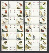 BELIZE, 1990 Schmetterlinge und Vögel 1031-42 I **, Stegpaare, (29630)