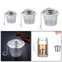 Reusable Stainless Steel Tea Infuser Strainer Basket Fine Mesh Leaf Spice Filter