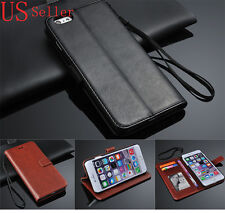Real Leather Flip Wallet Case Cover For iPhone 4 S4 5 5C 5S 6 6Plus