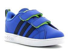 adidas Neo VS Advantage CMF Infant Kids UK 4 EU 20 Blue Touch Close Trainers NEW
