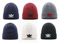Adidas Men Knitted TREFOIL LOGO Beanie Warm Winter Comfortable Hat Cap BNWT