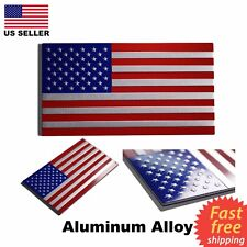 "AMERICAN FLAG STICKER DECAL CAR EMBLEM [Aluminum, NOT Vinyl] 3.25""x1.75"""
