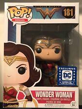 Funko Pop Gal Gadot Wonder Woman #181 Dc Legion of Collectors Exclusive