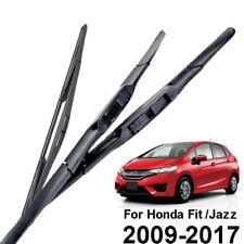 3PCS/Set Front Rear Wiper Blades Set Kit For Honda Fit Jazz MK2 MK3 2009-2017