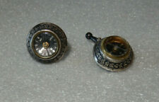 Vintage STERLING COMPASS Cuff Links 3/4