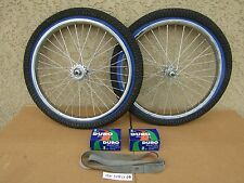 NEW 20''x1.75 BICYCLE HEAVY DUTY RIM SET WITH TIRES, TUBES, LINERS & SPROCKET