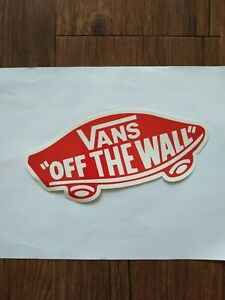 """Vans """"Off The Wall"""" Large Sticker"""