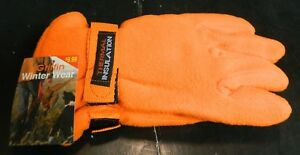 Griffin Blaze Safety Orange Thermal Insulated Fleece Gloves New With Tags