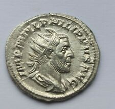 More details for flawless! ancient roman silver antoninianus philip i the arab /244-249 ad/