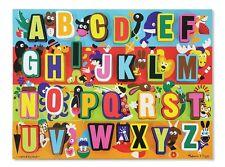 Melissa and & Doug ~ ALPHABET JUMBO CHUNKY ABC Puzzle Easy Grip ~ 1.3kg 34x40cm