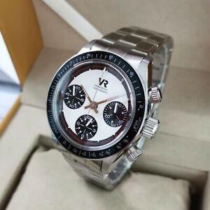VR Automatic Mechanical Chronograph Watch Daytona Paul Newman 7750 # ETA # 1963