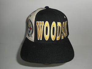 Vintage 80s 90s Starter Rod Woodson #26 Pittsburgh Steelers Snapback Cap Hat