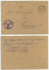44694 - Briefvorderseite - Frei durch Ablösung Reich - Landshut 11.8.1943
