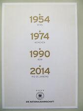 Autogrammkarte AK *WELTMEISTER 1954/1974/1990/2014* DFB Nationalelf WM 2014 RAR