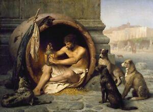 Diogenes Jean-Leon Gerome A0,A1,A2,A3,A4 poster
