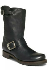 Frye Veronica Shortie Boots Flat Leather Pull On Black 8 B $298
