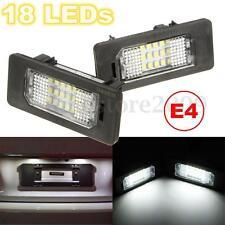 2x 18 LED White Number License Plate Light For BMW E90 E92 E93 E39 E60 E61 X5 X6