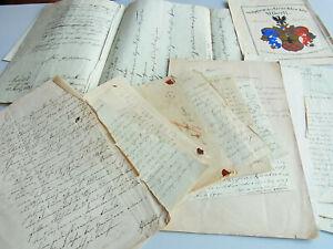 Convolute Letters Documents 1835-63 Pastor Karl Gustav Alberti & Ernestine Luthe