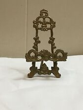 Vintage Brass Easel Display Stand Ornate 5� Cell Phone Holder