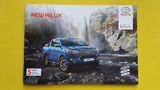 Toyota Hilux Active Icon Invincible X brochure sales catalogue June 2017 MINT