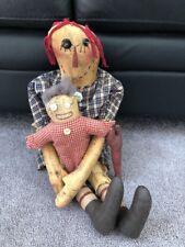 Vintage Antique Primitive Folk Art Dolls-Rare
