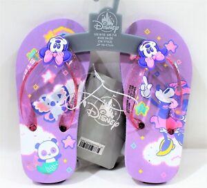 Disney Minnie Mouse Flip Flops Child 9/10 Applique & Glitter Accent