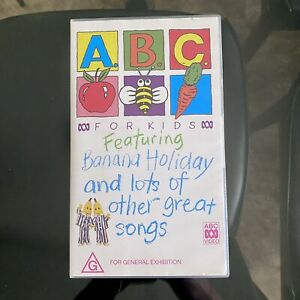 Rare ABC For KIDS Featuring BANANA Holiday & Other GREAT Songs VHS Pal TAPE 1994