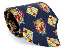 Mens Nautica Woven Silk Tie Blue Golf Theme Classic Necktie 58 x 3.75 New