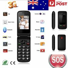 AU SENIORS SOS BIG BUTTON FLIP PHONE 3G S20 WITH CAMERA & SOS BUTTON UNLOCKED