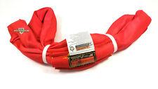 Red Endless Polyester Round Sling Tubular 4 Long