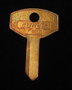 "F91G ALFA ROMEO & FIAT KEY BLANK ""G"" Code 1950s DOOR/TRUNK Early 60s In-Dash Ign"