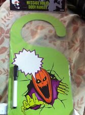 Spooky Halloween Decoration Message Board Door Hanger Pumpkin Personalize-able