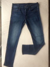 OUTSTANDING G-STAR RAW 3301 SLIM TAPERED STRETCH BLUE JEANS SIZE 31 L34