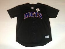 Mens New York Mets Black TrueFan Button Down Shirt Jersey XL (46-48)