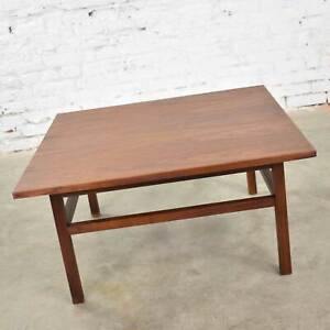 Mid Century Modern Square Walnut Cocktail Coffee End Side Table Style Founders