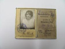Bahnfahrschein,Monatskarte, Lecham - München Hbf i Alurahmen Juni 1934