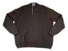 Men's COUNTRY CLUB Brown Wool 4Btn Knit Pullover Jumper Sweater 56 XL XXL NWT