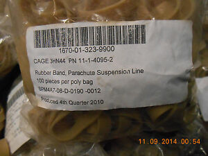 50 US Government Issue Parachute Rubber Bands military skydiving Highest Quality