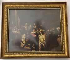 """The Night Watch by Rembrandt, Framed Painting Reproduction, 12"""" x 11"""""""