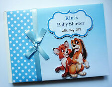DISNEY THE FOX AND THE HOUND BOY/GIRL BABY SHOWER / BIRTHDAY GUEST BOOK