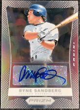 2012 Panini Prizm Silver Autograph #/25 Ryne Sandberg Chicago Cubs  Card #RS!!!!
