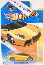 2010 Hot Wheels NEW MODELS #23/44 - LAMBORGHINI REVENTON ROADSTER -  YELLOW USLC