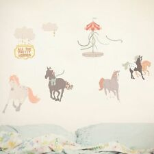 Love Mae Re-usable Decal for Nursery Baby Kids - Pretty Horses
