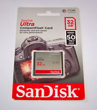New 32GB Sandisk Ultra Compact Flash Memory Card 32 GB 50 MB/s (SDCFHS-032G-G46)