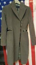 BCBG Maxazria Top Coat Jacket Cashmere Wool Blend Brown Sz XS
