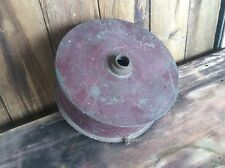 Vintage Galvanized Pan , Screw On Top , Drainage Spout , Country Red