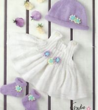 baby / girls knitting pattern for baby set birth to 4 years double knit yarn