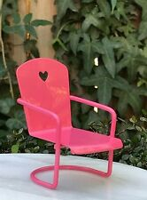 Miniature Dollhouse FAIRY GARDEN Furniture ~ Mini Pink Heart Metal Glider Chair